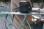 Amber Heard Studded Shoulder Bag