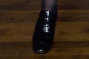 Courtney Love Leather Slip On Shoes
