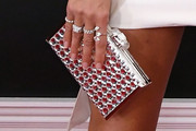 Heidi Klum Metallic Clutch