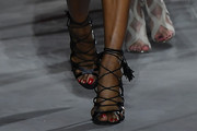 Naomi Campbell Lace-Up Heels