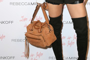 AnnaLynne McCord Suede Shoulder Bag