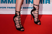 Diane Kruger Lace-Up Heels