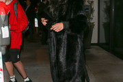 Naya Rivera Faux Fur Coat