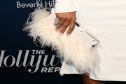 Christina Milian Feathered Clutch