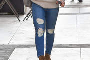 Hilary Duff Ripped Jeans