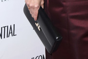 Hilary Swank Leather Clutch