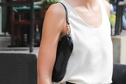 Lily Aldridge Patent Leather Shoulder Bag