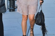 Karolina Kurkova Studded Shoulder Bag