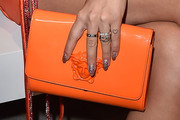 Rita Ora Patent Leather Clutch
