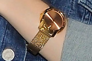 Lily Collins Gold Quartz Watch